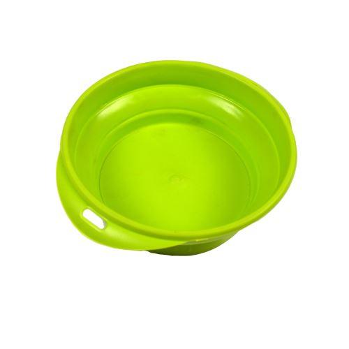 Silikonová cestovní miska Argi - zelená - 350 ml