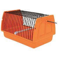 Přepravka pro ptáky 22x14x15cm plast oranžová TR 1ks