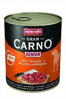 Animonda Gran Carno Senior Konzerva - kuře & krůtí srdce 800 g