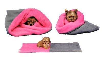 Marie Brožková Marysa Spací pytel 3v1 Mini pro psy a kočky šedý s tmavě růžovou