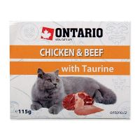 Vanička ONTARIO Cat Chicken & Beef with Taurine 115 g
