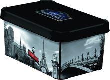 Curver úložný box, vzor Paříž, velikost S