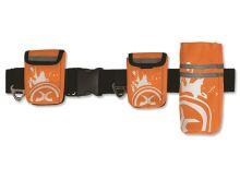 Zolux Nylonový pás reflexní pro jogging se 3 pouzdry pro psy oranžový - velikost M