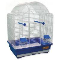 Klec BIRD JEWEL K9 bílá + modrá 45 x 33,5 x 59 cm