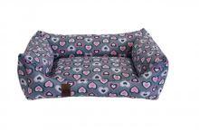 Pelech pro psa Argi obdélníkový - snímatelný potah z polyesteru - Molly - 80 x 65 cm