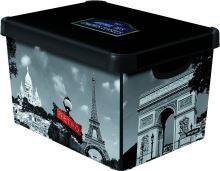 Curver úložný box, vzor Paříž, velikost L