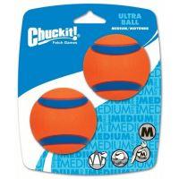 Chuckit! Ultra Ball gumové aportovací míčky - velikost M, 6,5 cm, 2 ks