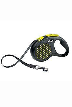 Vodítko FLEXI Design S pásek 5m/15kg žlutá