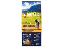 ONTARIO Dog Adult Medium Lamb & Rice 0,75 kg