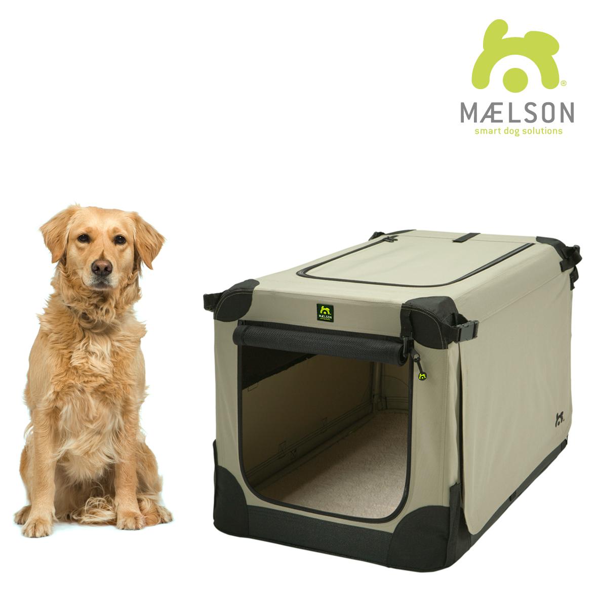 Přepravka pro psy Maelson - černo-béžová - XXL, 105x72x81 cm