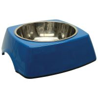 Miska DOG FANTASY nerezová čtvercová modrá 18 cm