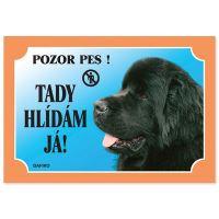 Tabulka DAFIKO novofoundlandský pes černý