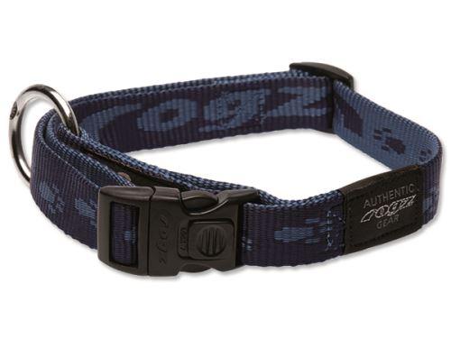 Obojek pro psa nylonový - Rogz Alpinist - modrý - 2 x 34 - 56 cm