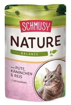 Schmusy Nature Menu kapsička - krocan & králík 100 g
