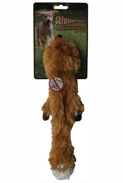 Hračka pes Liška pískací Skinneeez