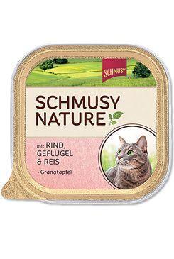 Schmusy Nature Menu vanička - hovězí & drůbež 100 g