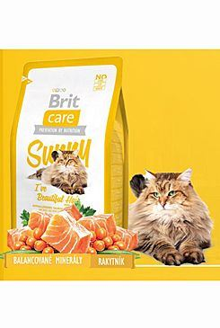 Brit Care Cat Sunny I`ve Beautiful Hair - losos a rýže pro péči o srst