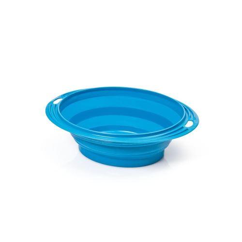 Silikonová cestovní miska oválná Argi - modrá - 500 ml