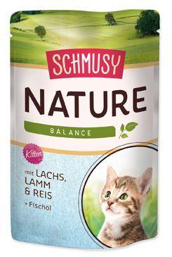 Schmusy Nature Menu Junior kapsička - losos & jehně pro koťata 100 g