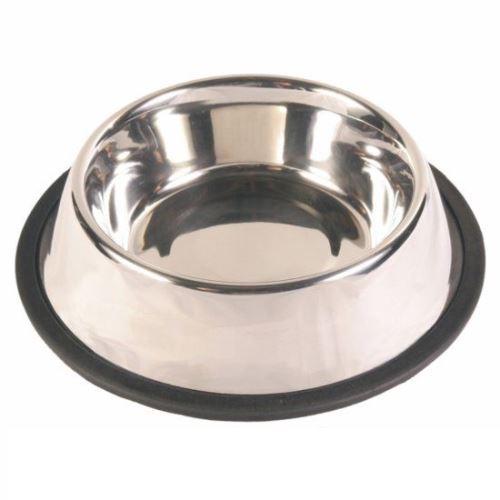 Nerezová miska pro psy s gumou 900 ml -17 cm