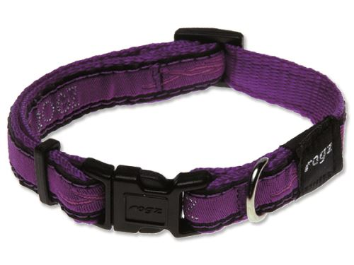 Obojek pro psa nylonový - Rogz Fancy Dress Purple Chrome - 1,1 x 20 - 32 cm