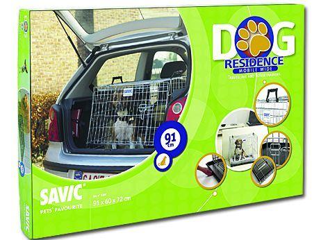 Savic Dog Residence Mobil Klec do auta zkosená se dvěma dvířky pro psy, 91x60x72 cm