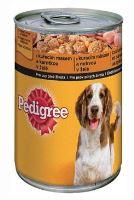Pedigree konzerva Adult kuřecí s karotkou v želé 400g