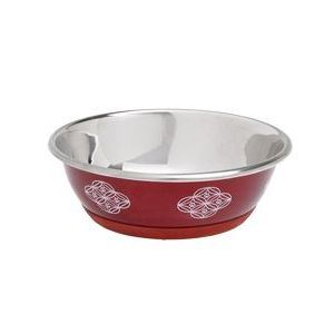Karlie miska nerez Dog SELECTA motiv 500 ml - 13 cm červená
