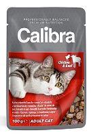 Calibra Cat kapsička kuřecí a hovězí v omáčce 100 g
