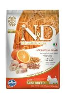 N&D Low Grain Dog Adult Mini Codfish & Orange 7 kg