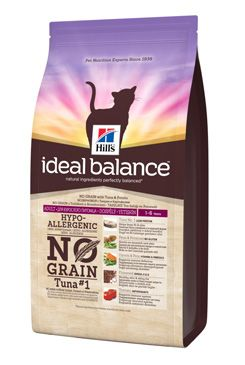 Hill's Feline Ideal B. Adult NO GRAIN Tuňák bram