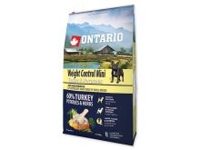 ONTARIO Dog Mini Weight Control Turkey & Potatoes 2,25 kg