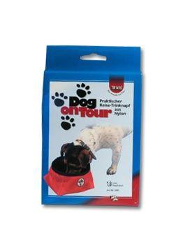 Trixie nylonová cestovní miska pro psy na vodu 1 800 ml červená