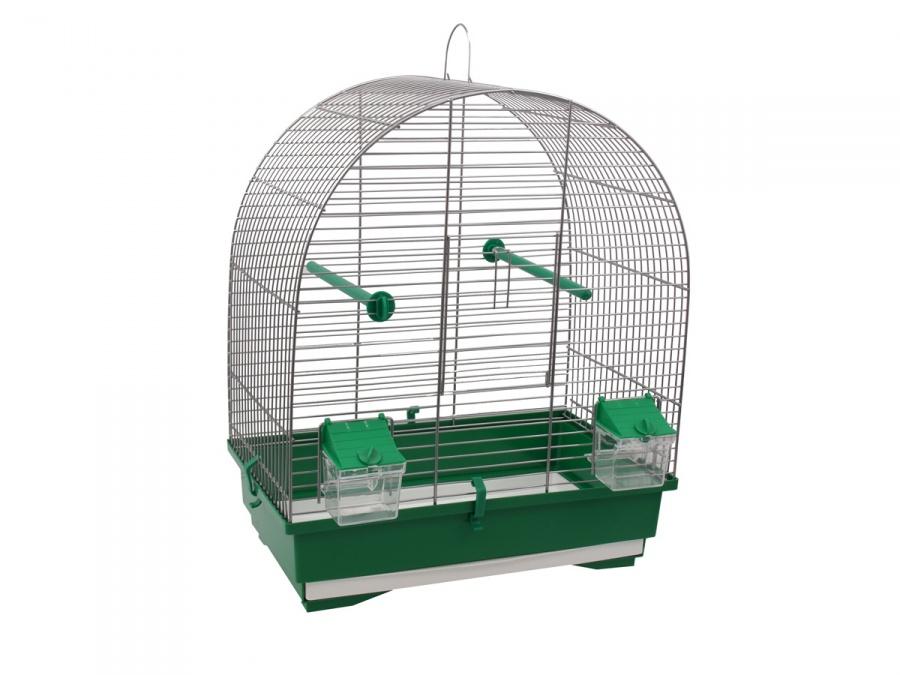 Klec BIRD JEWEL KS8 šedá + zelená 40 x 25,5 x 47,5 cm