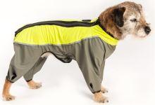Samohýl Exclusive Kombinéza funkční pláštěnka Trekky šedo-neon zelená 45 cm