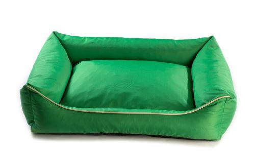 Pelech pro psa Argi obdélníkový - snímatelný potah z polyesteru - zelený - 70 x 55 cm