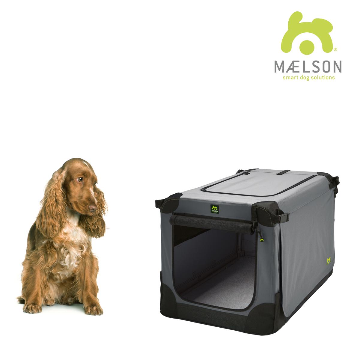 Přepravka pro psy Maelson - černo-šedá - velikost L, 82x59x59 cm