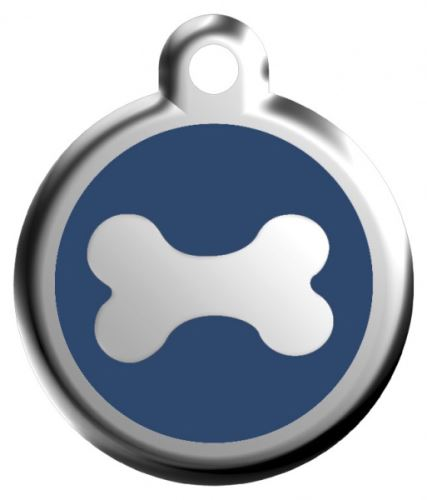 Red Dingo Známka modrá vzor kost