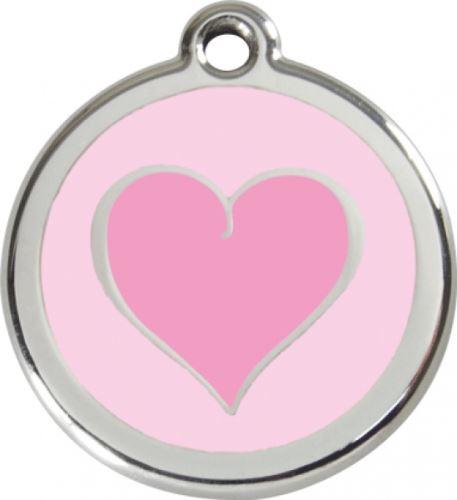 Red Dingo Známka růžová vzor srdce