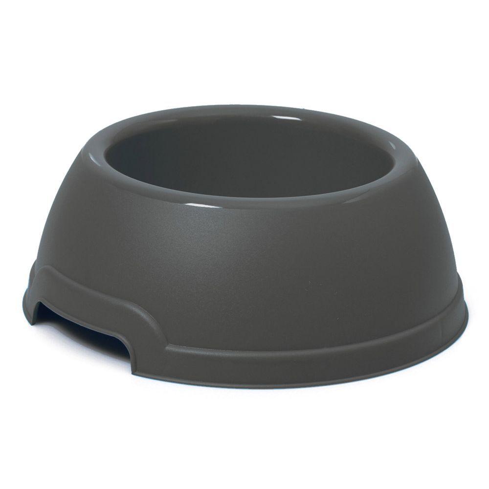Plastová miska s protiskluzem Argi - černá - 750 ml
