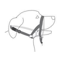 Flamingo Easy leader nylonová ohlávka pro psy proti táhnutí černá - velikost XL