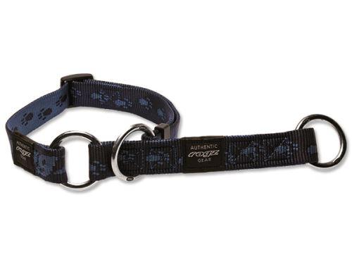 Obojek pro psa nylonový polostahovací - Rogz Alpinist - modrý - 2,5 x 43 - 70 cm
