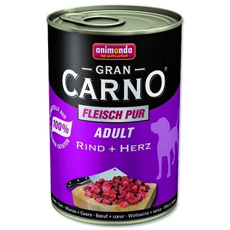 Animonda Gran Carno Adult - hovězí & srdce pro psy 400 g