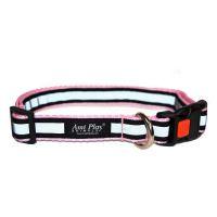 Obojek pro psa nylonový reflexní - bezpečnostní - růžový - 2,5 x 53 - 85 cm