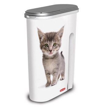 Curver Kontejner na suché krmivo se vzorem kočky