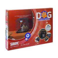 Savic Dog Residence Klec do auta se dvěma dvířky pro psy a kočky, 61x46x53 cm