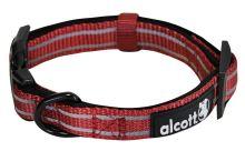 Alcott reflexní obojek pro psy, červený, velikost L