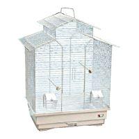Klec BIRD JEWEL Ela bílá 50,5 x 38,5 x 63,5 cm