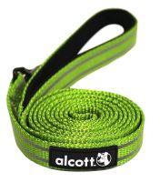 Alcott reflexní vodítko pro psy, zelené, velikost M
