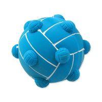 Hračka DOG FANTASY Latex míč s výstupky a zvukem mix barev 9 cm